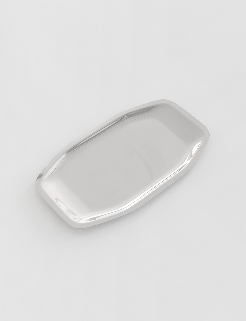 HEXAGON STAINLESS TRAY